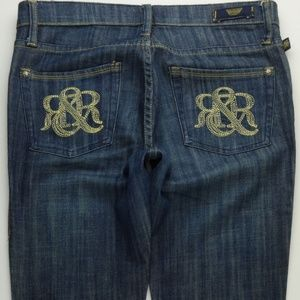 Rock & Republic Kiedes Flare Jeans Womens 28 A278J